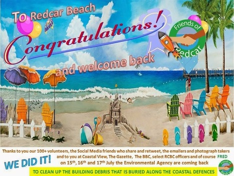 Friends Of Redcar: Environmental Agency commit to Redcar Beach Clean Up July 2014 | Redcar Beach Action Group | Scoop.it