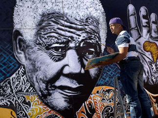 Mandela's 95th birthday: South African artists celebrate with giant ...   Matric Art Research Project   Scoop.it