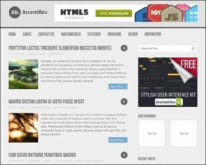 250+ Best Responsive Free WordPress Themes | webdesign | Scoop.it