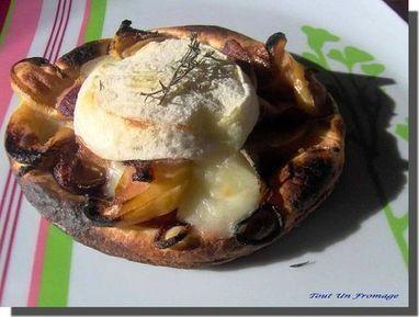 Tartelettes fines aux pommes, thym et Rocamadour - Tout Un Fromage | Terroir | Scoop.it