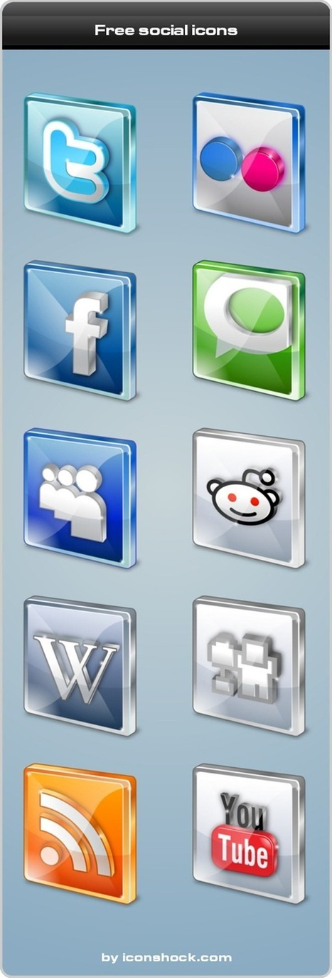 80 Free High Quality Social Media Icon Sets | The 21st Century | Scoop.it