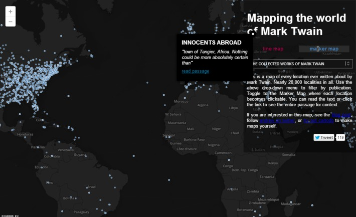 The complete works of Mark Twain mapped | Nerdy Needs | Scoop.it