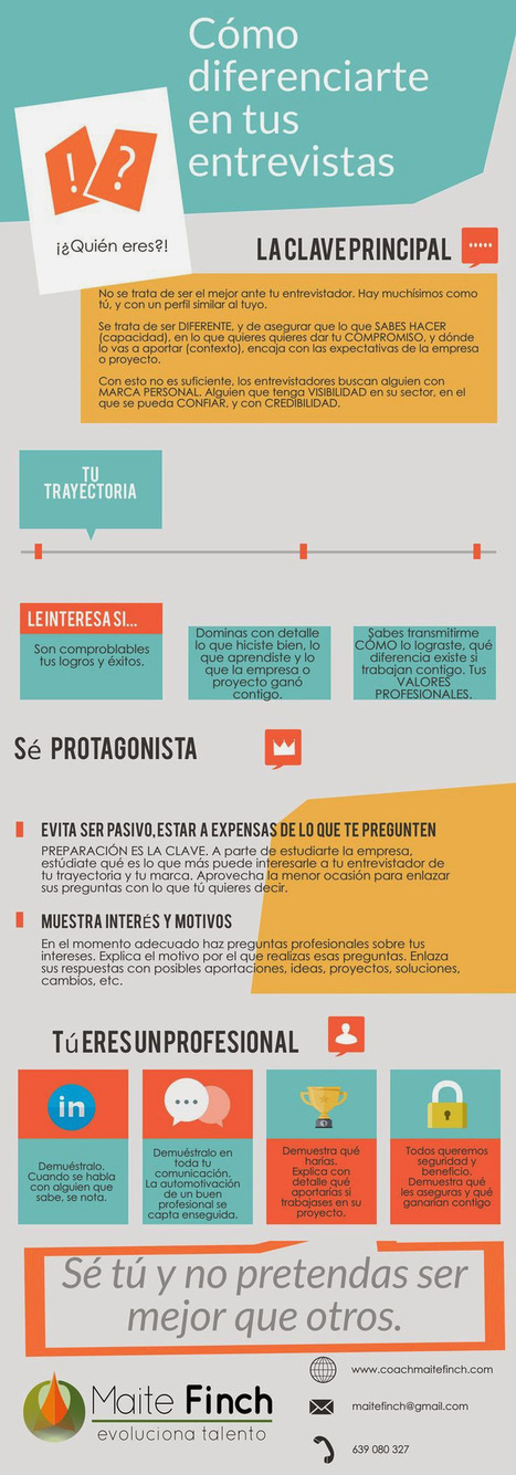 Cómo diferenciarte en tu entrevista de trabajo (infografía). - Donde Hay Trabajo | Educacion, ecologia y TIC | Scoop.it