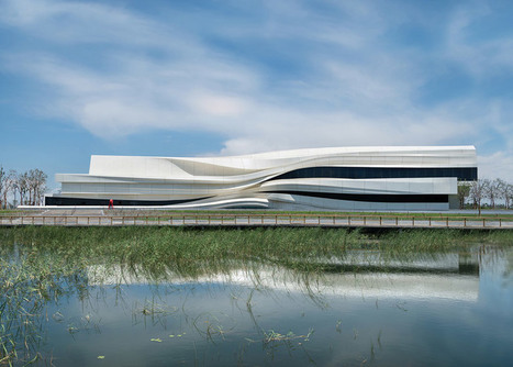 Facade of Yinchuan Art Museum references a Chinese river | Today's Modern Architects and Architecture | Scoop.it