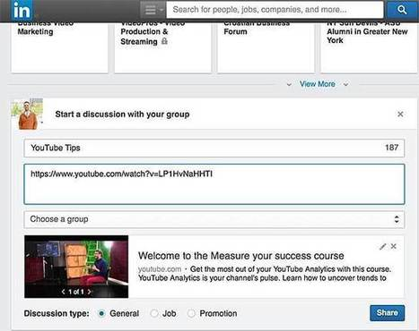 5 Essential Ways to Use LinkedIn for Online Video Marketing | Video: Enterprise & Education | Scoop.it