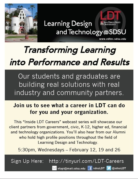 Transforming Learning into Performance and Results with Learning Design and Technology at SDSU | SDSU Learning Spaces | Scoop.it