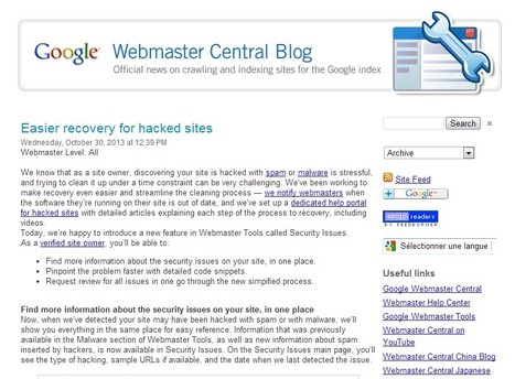 Official Google Webmaster Central Blog: Easier recovery for hacked sites | Daily Magazine | Scoop.it