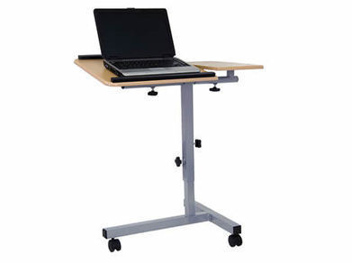 Angle and Height Adjustable Mobile Laptop Table Maple | Backs2Beds.ca | Buy Online Office & Home Furniture at Backs2Beds.ca | Scoop.it