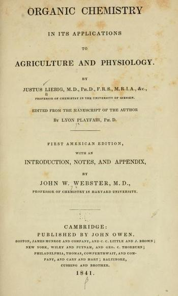 Organic chemistry in its applications to agriculture and physiology (von Liebig, 1840). Biodiversity Heritage Library | Plant Biology Teaching Resources (Higher Education) | Scoop.it