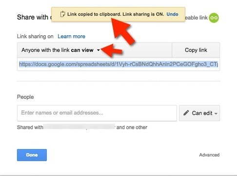 Sharing in New Google Drive: Get Sharable Link