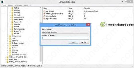 Comment activer Verr Num (ou Num Lock) au démarrage de Windows 8 ?   Le coin du net   Comptoir Numérique   Scoop.it