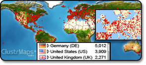 ClustrMaps - shows locations of all site visitors on Map OTW! | IB&A Level Geography | Scoop.it
