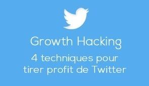 Growth Hacking : 4 Techniques pour tirer profit de Twitter | Web information Specialist | Scoop.it