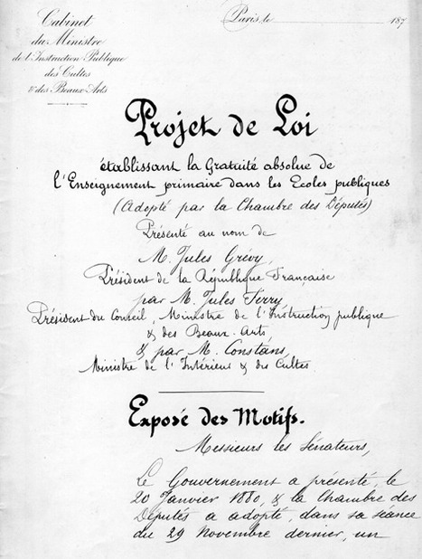 Dossiers d'histoire -Les lois scolaires de Jules Ferry | Enseigner l'Histoire-Géographie | Scoop.it