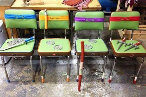 Teenage Mutant Ninja Chairs [Pic]   All Geeks   Scoop.it
