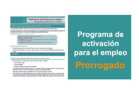 El gobierno prorroga el Programa de Activación para el Empleo un año más   Blogempleo Noticias   Scoop.it