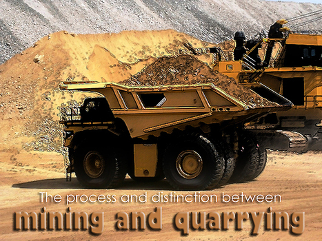 Kompass India Blog » The process and distinction between mining and quarrying | Extraction industries in India | Scoop.it