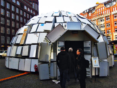 Igloo Made From 300 Refrigerators Springs Up in Germany | Inhabitat - Green Design Will Save the World | Inuit Nunangat Stories | Scoop.it