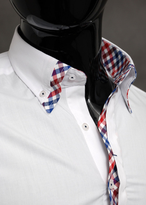 Stylish casual formal double cuffs mens check shirt slim fit cotton | Styling Tips for Men | Scoop.it