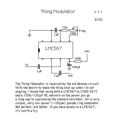 Tim Escobedo's Circuit Snippets | Thing Modulator | DIY Music & electronics | Scoop.it