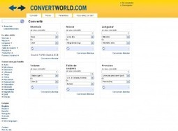 Convertworld. Un convertisseur universel. | Les outils du Web 2.0 | Scoop.it