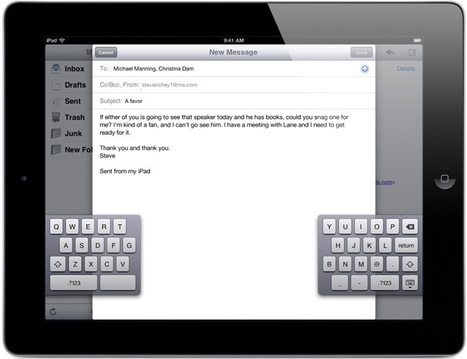 Split the iPad Keyboard For Easier Typing | Go Go Learning | Scoop.it