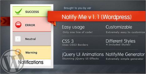 NotifyMe (Wordpress Edition) | My Best Wordpress Plugins | Scoop.it