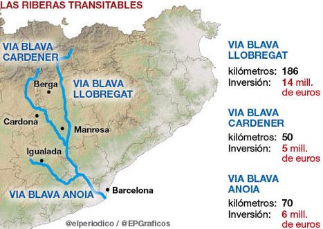 El proyecto Vies Blaves hará transitables las riberas del Llobregat, el Anoia y el Cardener | #territori | Scoop.it