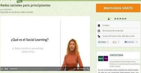 Redes sociales para principiantes, un curso gratuito y en español | Redes sociales y utilización de las mismas para encontrar empleo | Scoop.it