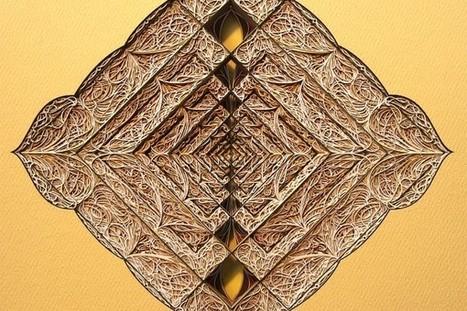 Nouveaux vitraux en papier par Eric Standley - Journal du Design | ART is life | Scoop.it