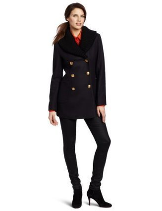 Vivienne Westwood Anglomania Women's Vienna Peacoat With Rib, Blue, EU 44/ US 6/8 | Big Deals Fashion Today | Scoop.it