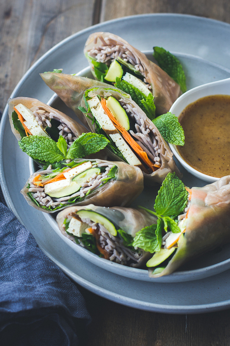 #HealthyRecipe ~ Roasted Zucchini + Soba Noodle Summer Rolls {Vegan + Gluten-Free} | lovemefood | Scoop.it