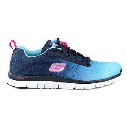 Cheap Skechers Flex Appeal – New Arrival Women's Walking Shoe,Light Blue/Navy,8 M US | cheaphomeappliances | Scoop.it