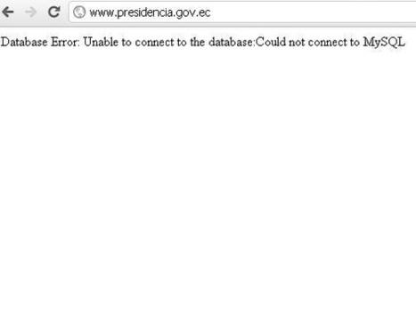 Captura sitio @presidencia_ec caído justo a la hora que #anonymous anunció #cpcondorlibre | Anonymous Ecuador | Scoop.it