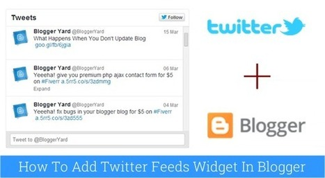 Twitter Feeds Widget For Blogger | Blogger Yard | Blogger Tips and Tricks | Blogging Ideas | SEO Tips | Make Money | Scoop.it