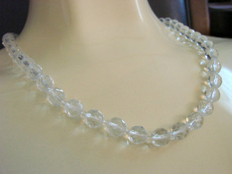 50s Austrian Crystal Glass Bead Necklace / Wedding / Bridal / Mid Century / Vintage Jewelry / CIJ Sale 20% Off Coupon Code (CIJSALE1) | Vintage and Antique Jewelry & Fashion | Scoop.it