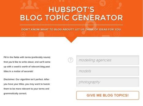 Content Idea Generators for Blogs   Ed Tech   Scoop.it