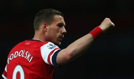 Lukas Podolski pleased with step towards Champions League ... | Champions League | Scoop.it