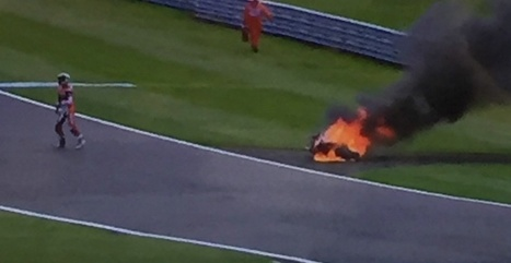 WSBK Donington Park, UK: Fiery end to Davies' Ducati | Ductalk Ducati News | Scoop.it
