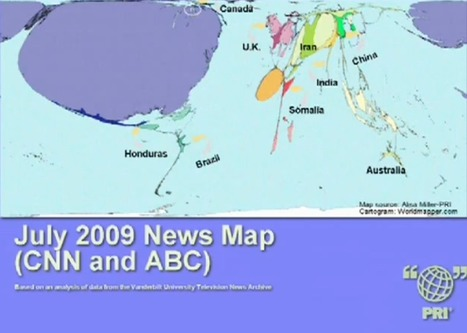 Cartogram of 'Where U.S. NEWs stories focus' | M@pping the World | Scoop.it