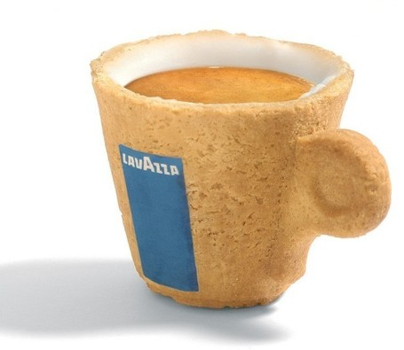 Coffee Just Got Sweeter with Lavazza's Edible Coffee Cup - Culture-ist | SemioFood | Scoop.it