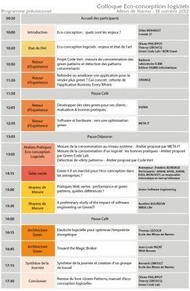 Colloque éco-conception logicielle à Nantes ce jeudi 18 octobre | Ardesi - Développement durable | Scoop.it