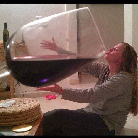 Woman drinks huge glass of wine | The brain and illusions | Scoop.it