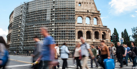 Colosseum Renovations Set To Begin, Rome Attraction Covered In Scaffolding ... - Huffington Post | Ancient World Civilizations (cont.) | Scoop.it