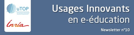"""Newsletter uTOP-Inria No 10 : """"Usages innovants en e-éducation""""   Sciences du numérique et e-education   Scoop.it"""