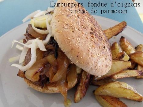 Hamburger au confit d'oignon et crème de Parmesan | The Voice of Cheese | Scoop.it