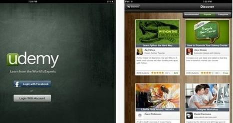 Gustavo Martínez Blog´s » Blog Archive » Udemy lanza su aplicación para iPad con acceso a más de 5.000 cursos   El Taller del Aprendiz   Scoop.it