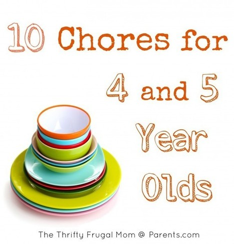 10 Chores for 4 and 5 Year Olds | The Thrifty Frugal Mom | pocket money | Scoop.it