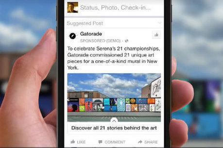 Facebook lance de nouveaux formats de pub mobile très immersifs   Clic France   Scoop.it