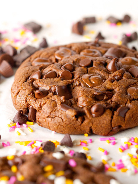 Giant Chocolate Peanut Butter Cookies for 2   recipes   Scoop.it